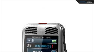 Philips Digital Pocket Memo - 3D-Mikrofon System für beste Audioqualität