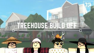 Roblox: Welcome to Bloxburg | Treehouse Build Off with AsianMim, Discomation & iiSweetStrawberry