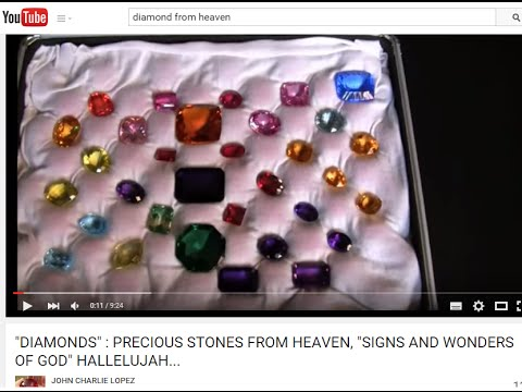 """DIAMONDS"" : PRECIOUS STONES FROM HEAVEN, ""SIGNS AND WONDERS OF GOD"" HALLELUJAH..."