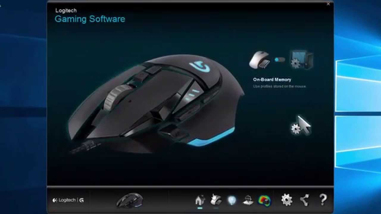 Logitech Proteus G502 Gaming Mouse Software Review Youtube