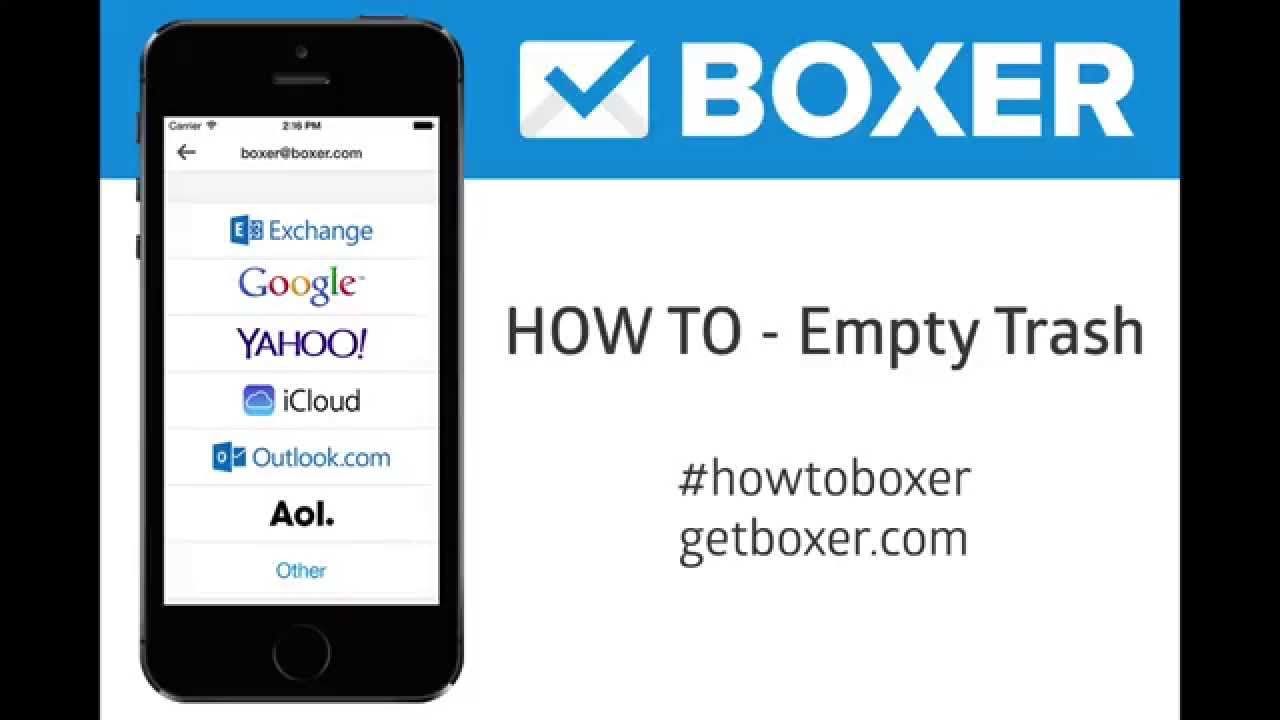 Boxer  How To Empty Your Trash #howtoboxer