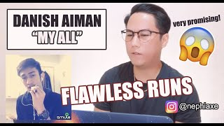 My All - Mariah Carey (Danish Aiman Smule Cover) | SINGER REACTS