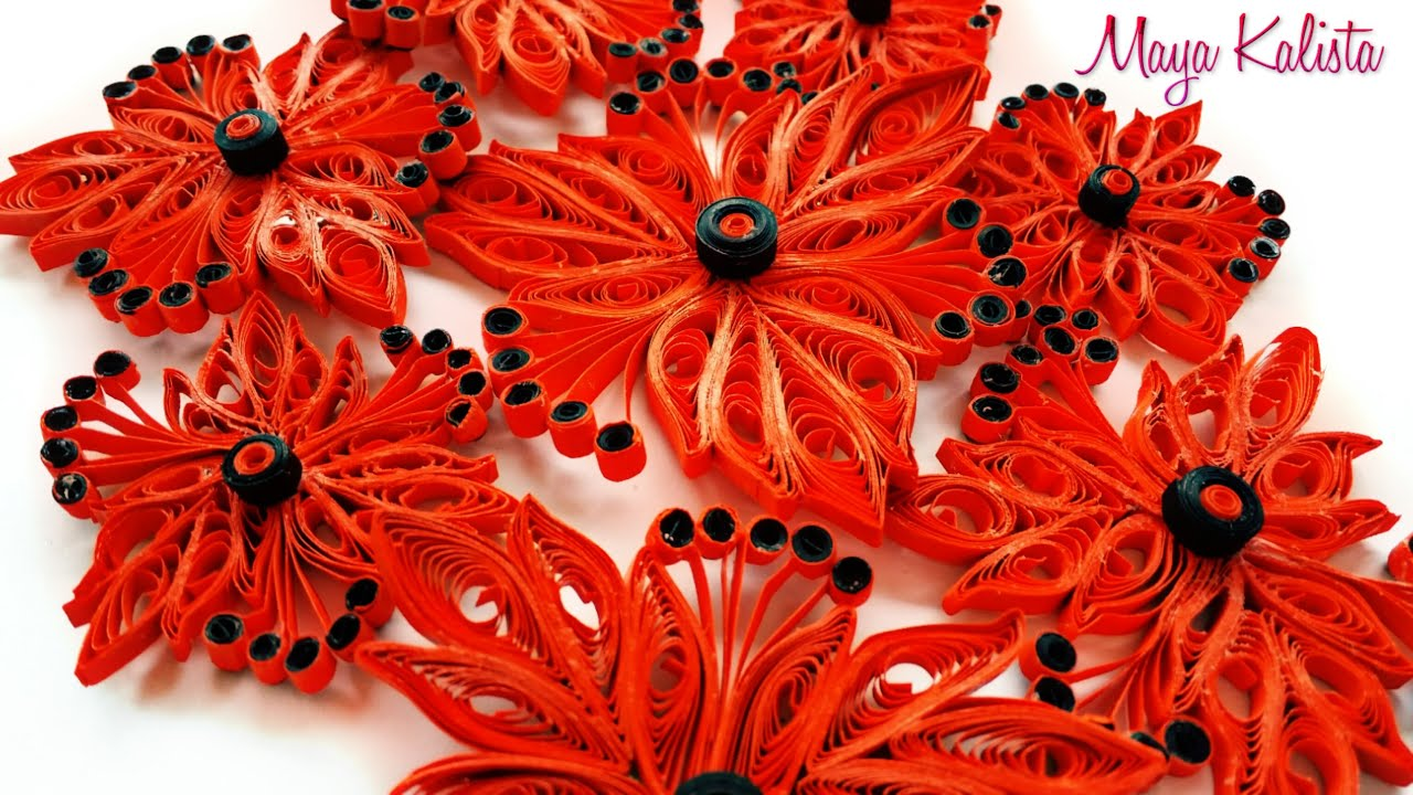 Quilling flowers easy designs tutorial for beginners for Quilling designs for beginners