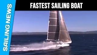 Hydrofoil : world speed sailing record for Hydroptere at 51.36 knots