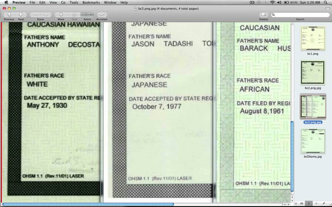 Obama Birth Certificate Faked In Adobe Illustrator Official Proof