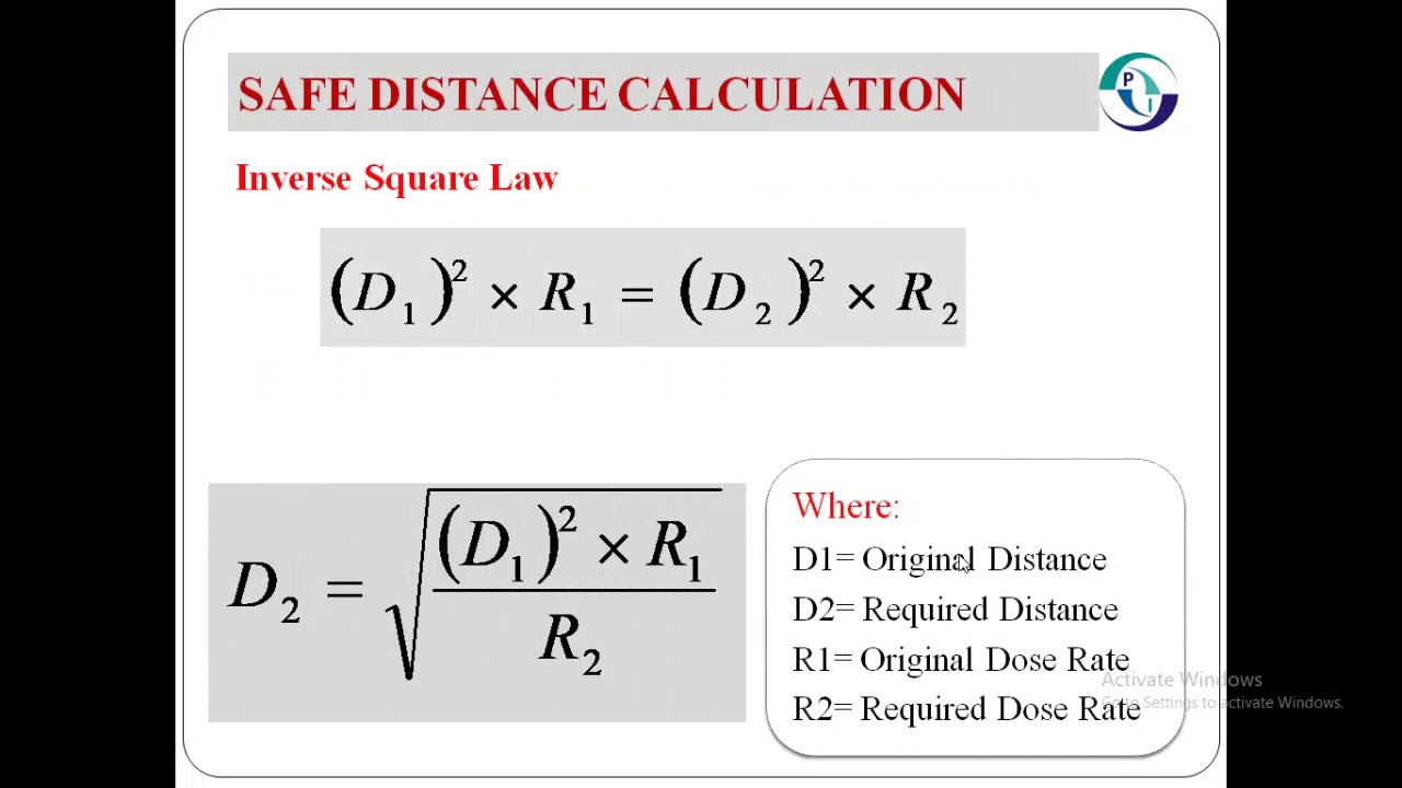 Radiation Safe Distance Calculation For Radiography Youtube
