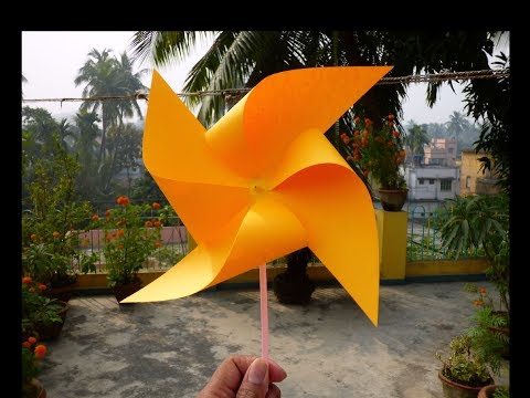 DIY How to make Paper Windmill or Easy School Project for Kids.