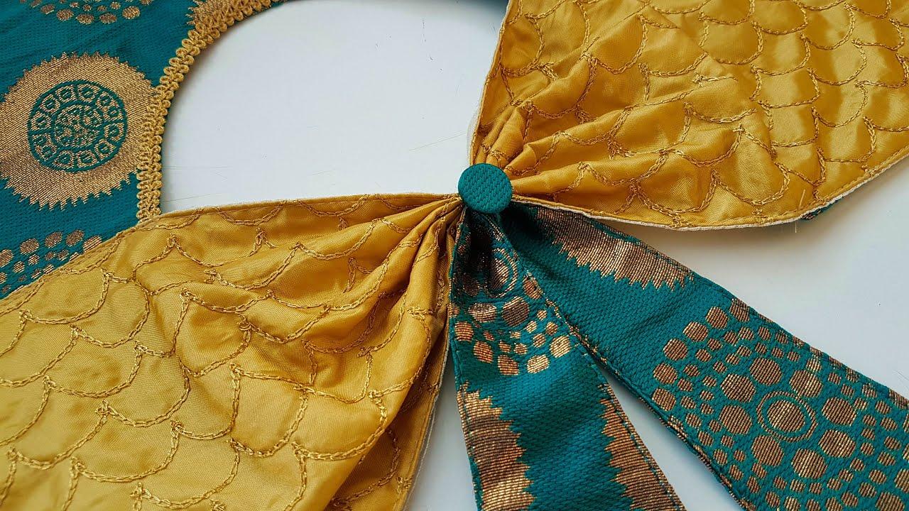 silk blouse gala back neck design cutting and stitching