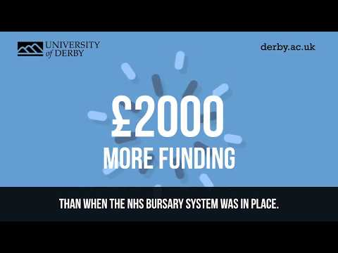 Funding for nursing degrees or Allied Health courses at the University of Derby