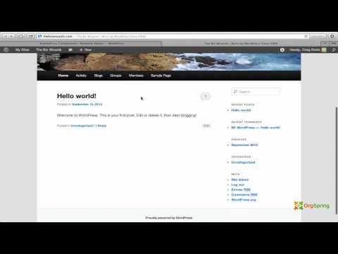 BuddyPress WordPress Plugin Installation Tutorial