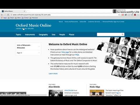 Database Presentation: Oxford Music Online