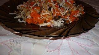 Салат с жареными крабовыми палочками. Вкуснейший салат!!!
