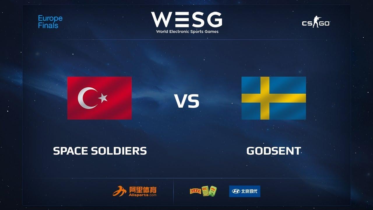 Space Soldiers vs GODSENT, map 1 cache, WESG 2017 CS:GO European Qualifier Finals
