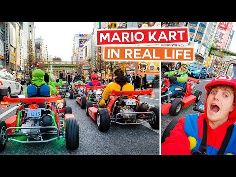 Can't Believe We Did THIS in Tokyo!! | Mario Kart in Real Life - Japan Vlog