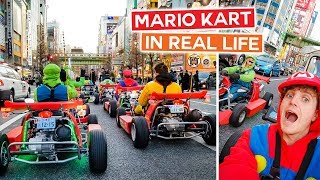 Can't Believe We Did THIS in Tokyo!!   Mario Kart in Real Life - Japan Vlog