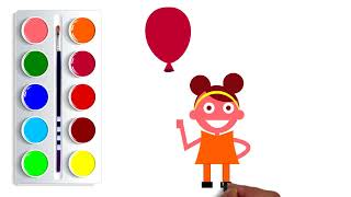 How to Draw  Coloring cartoon Videos For Children   Cartoon for Babies  SPR Kids Cartoon