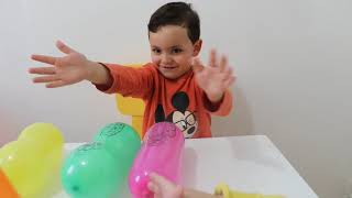 learn colors with balloons and nursery rhymes,kids boys