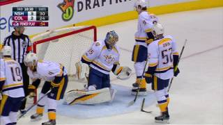 Rinne comes up huge in the third, robs MacKinnon