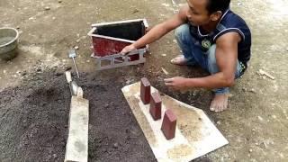 Cara membuat batako dengan menggunakan pasir Alas