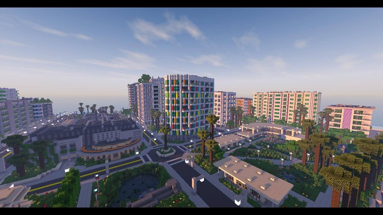 La Ville La Plus Realiste Dans Minecraft Youtube