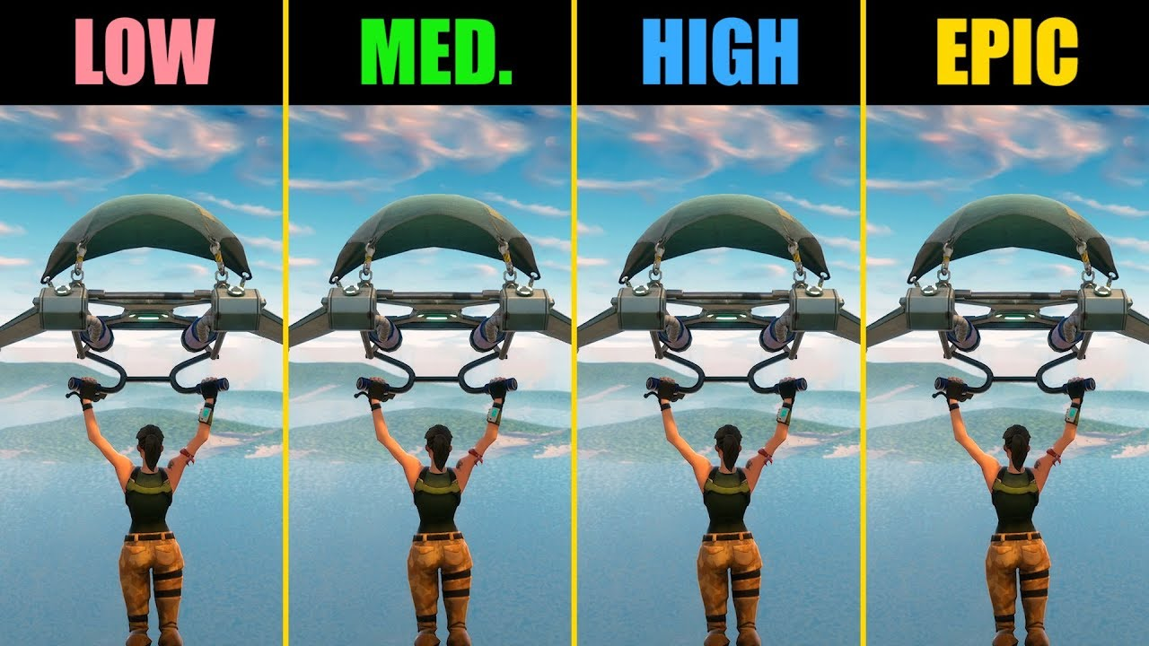 Fortnite GTX 1060 Low vs  Medium vs  High vs  Epic (Performance Comparison)