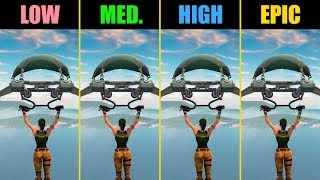 Fortnite GTX 1060 Low vs. Medium vs. High vs. Epic (Performance Comparison)