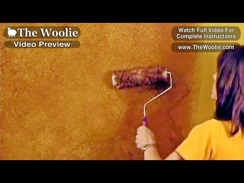 Quick - Sponge Roller Paint Technique Faux Painting Techniques  (How To Paint Walls) #FauxPainting