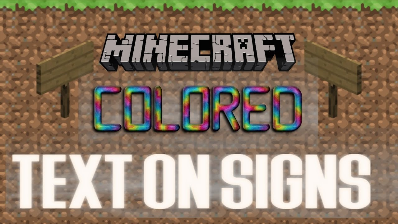 How To Get Colored Textsymbols On Signs In Minecraft Xbox One