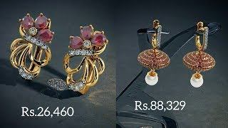 Latest RUBY EARRINGS designs with PRICE FROM BLUESTONE