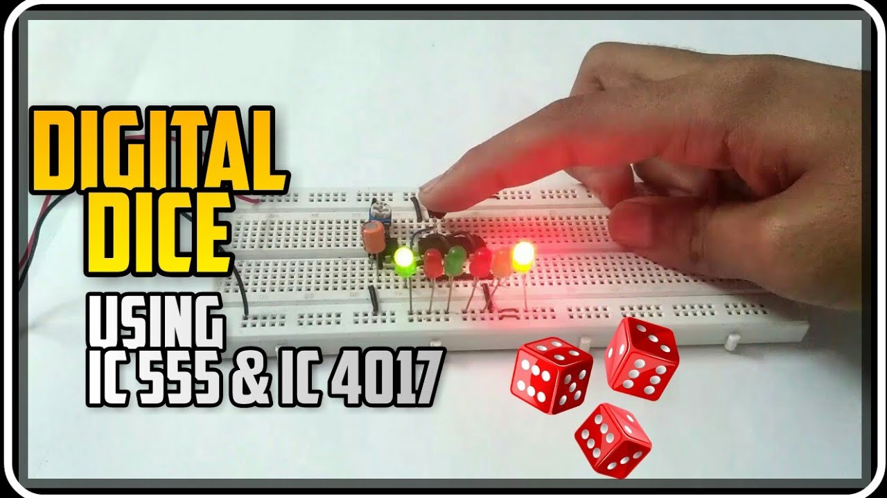 How To Make A Simple Digital Dice Using 555 Timer 4017 Counter Electronic Circuit Diagram