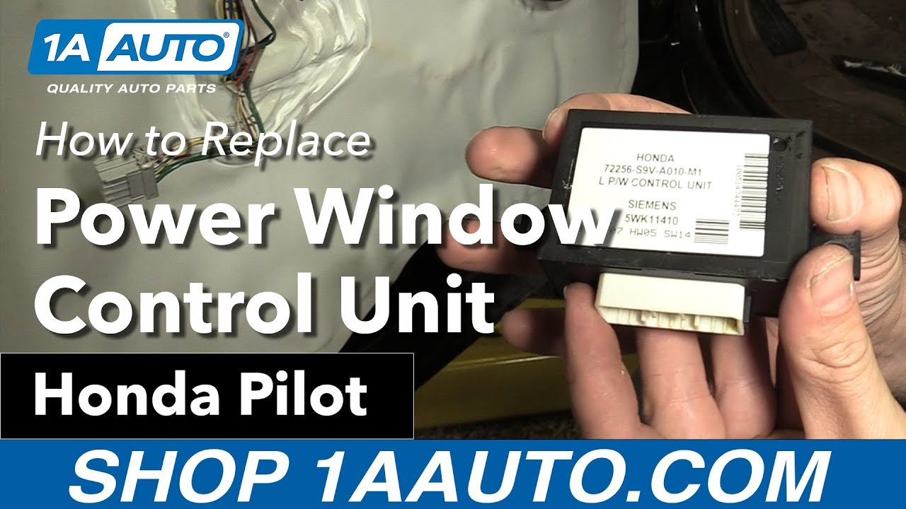 medium resolution of how to replace install power window control unit 2007 honda pilot