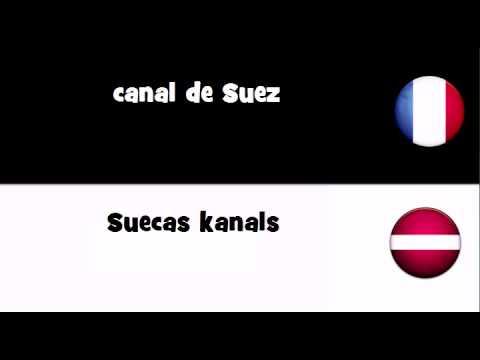 Dites le en 20 langues # canal de Suez
