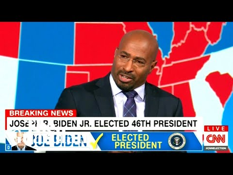 CNN's Van Jones brought to tears as Joe Biden wins US election