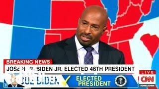 CNN's Van Jones brought to tears as Joe Biden wins US election
