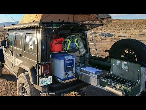 Overlanding Gourmet Kitchen Sliding out Camp Cooking