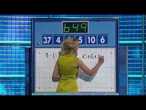 Countdown  'Scary' Numbers and Conundrum  Monday 16 August 2010