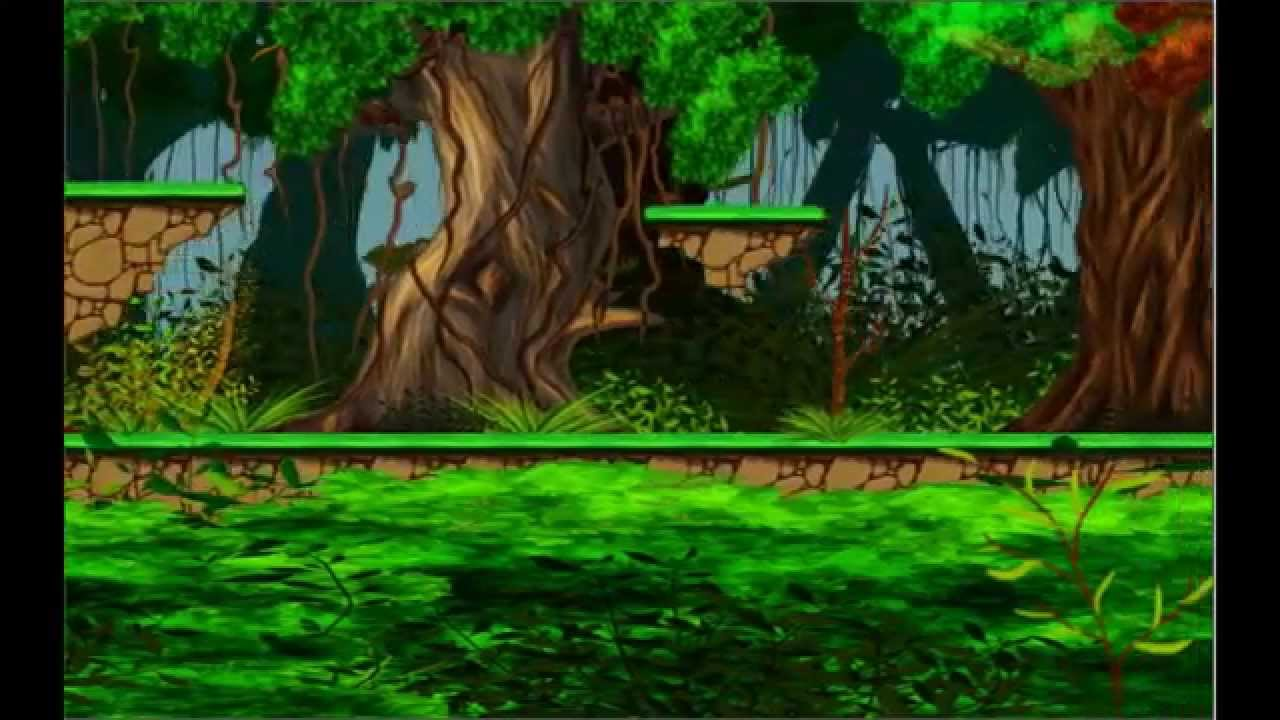 Hand Painted 2D Forest Platform For Games - Youtube-6966