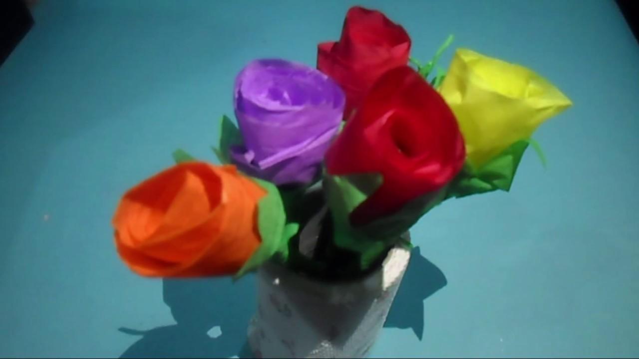 How To Make Tissue Paper Roses Make Easy Tissue Paper Roses