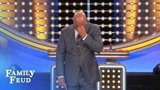 Steve's SCARED to flip over #7! | Family Feud