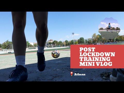 Post Lockdown Football Session MiniVlog | Training in Athens