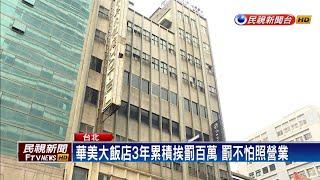 北車華美大飯店違法30年照常營業還賣團購券-民視新聞