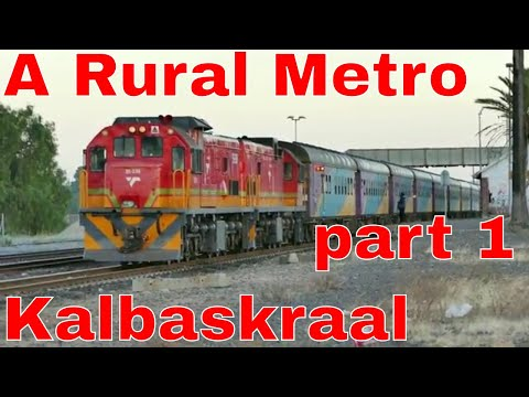 A Rural Metro Train in South Africa Part 1 - KALBASKRAAL junction