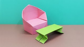 How to make a Paper Sofa (Single) easy - DIY Paper Crafts