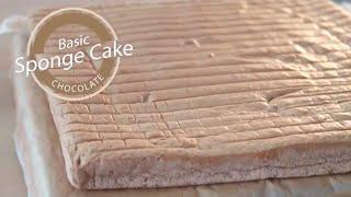 Basic Sponge Cake Chocolate