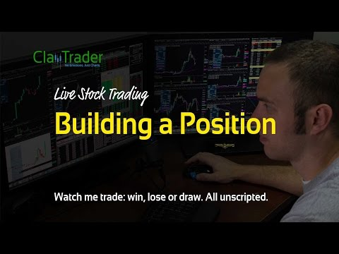 Live Stock Trades - Building a Position