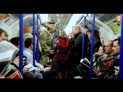Anti War Protester Attacks British Soldier Social Experiment