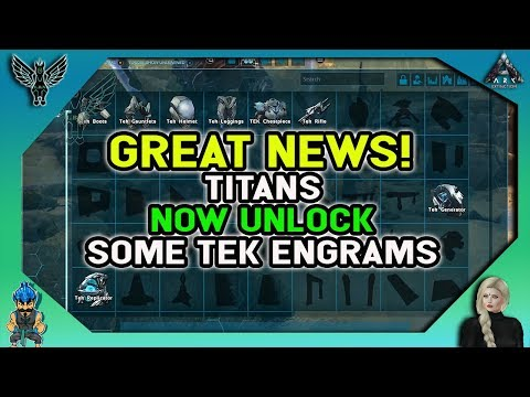 ARK EXTINCTION: GREAT NEWS! Titans Now Unlock Some Tek