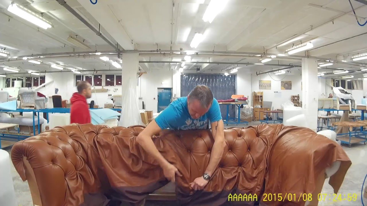 tufting a chesterfield sofa YouTube