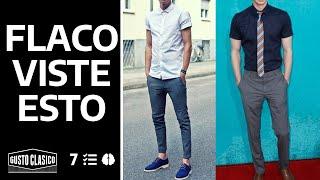 7 tips de estilo para hombres flacos | Viste mejor y luce más amplio