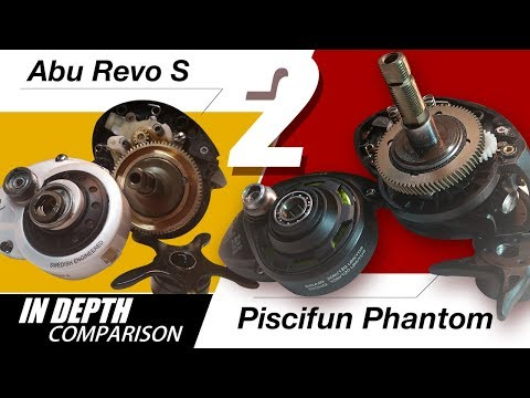 Compare Piscifun Phantom to Abu Garcia Revo S Internally - B